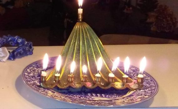 Menorah, Candles, Jewish Holiday Celebration, Hanukkah